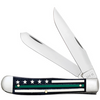 Case Stripes of Service Trapper 9575 Smooth Black Bone with Color Inlays Handle (6254 SS)