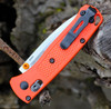 "Benchmade 533 Mini Bugout, 2.82"" CPM-S30V Drop-Point Plain Blade, Orange Grivory Handle"
