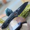 "CRKT Overland CR6280, 2.977"" 8Cr13MoV Black Stonewash Blade, G-10/2Cr13 SS Handle"