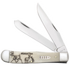 Case Sportsman Series Trapper Whitetail Deer 60576 Smooth Natural Bone Handle (6254 SS)