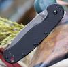 """Esee Avispa Framelock SK5 Black BRK1303, 3.65"""" SK5 High Carbon Steel Plain Blade, Black Nylon Handles"""