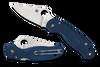 "Spyderco Para 3 Lightweight C223PCBL, 2.92"" CPM SPY27 Satin Plain Blade, Blue FRN Handle"