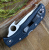 "Spyderco Endela Emerson Opener C243PGYW, 3.41"" VG-10 Satin Plain Blade,  Black FRN Handle"