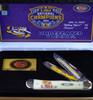 Case LSU19-CATSB Trapper Gift Set, LSU Smooth Natural Bone Handle (6254 SS)