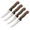 "Chicago Cutlery C43898 Basics Four Piece Steak Set, 5"" High Carbon Satinless Combo Blade, Walnut Handle"