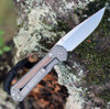 "Chris Reeve Small Sebenza 31 Natural Canvas Micarta Inlays,  2.99"" S35VN Drop Point (S31-1212)"