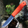 "Condor Terrasaur Fixed Blade CTK3947-4.1, 4.15"" 1095 Carbon Steel, Orange Polypropylene Handle"