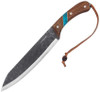 """Condor Blue River Machete CTK2827-10HC, 10.0"""" 1075 High Carbon Steel, Walnut and Reconstituted Turquoise Stone Handle"""
