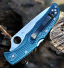 "Spyderco Endura K390 Lightweight C10FPK390, 3.8"" K390 Steel Plain Blade, Blue FRN Handle, Pre Order"