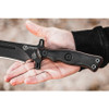 "Tops Knives Operato 7 Blackout Edition TPOP702, 7.25""  Black 1075HC Plain Blade, Black Canvas Micarta/ G10 Handle"