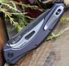 Kershaw 7777 Bareknuckle Flipper Knife, 3.5 in. 14C28N Damascus Blade, Aluminum Handle