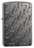 Zippo 49173 Armor Geometric Weave High Polish Black Ice Lighter
