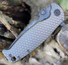 "DPx Gear H.E.S.T/F 3.0 3D Ti Flipper DPXHSF015, 3.15"" M390 Black Stonewashed Plain Blade, 3D Bronze Tianium Handle"