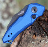 "Kershaw 7350BLUBLK Launch 10, 1.9"" CPM 154 Black Plain Blade, Blue Aluminum Handle"