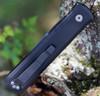 """Pro-Tech 921LH Godfather Left Hand, 4.0"""" 154CM Black Spear Point, Black T6-6081 Aluminum Handle"""
