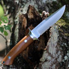 "Bark River Knives Chute Knife 07152MNC, 4.25"" CPM-154 Drop Point Plain Blade, Natural Canvas Handle"