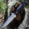 "Bark River Knives Chute Knife 07152MBC, 4.25"" CPM-154 Drop Point Plain Blade, Black Canvas Handle"