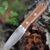 "Bark River Knives City Knife BA14140MNC, 2.45"" Elmax Plain Blade, Natural Canvas Micarta Handle"