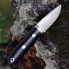 "Bark River Knives City Knife BA14140MBC, 2.45"" Elmax Plain Blade, Black Canvas Micarta Handle"