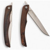 "BareBones Living Linerlock Steak Knife Set, 3.5"" Satin Stainless Blade, Hardwood Handle w/ Walnut Finish"