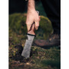 "Barebones Living Hori Hori Ultimate & Sheath, 7.25"" 4CR13 Black Stonewash Blade, Walnut Handle"