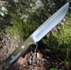"Bark River Knives Bravo 1.5 Field, 5.8"" CPM-3V Plain Blade, Green  Canvas Micarta Handle"