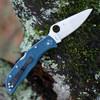 """Spyderco Endela K390 C243FPK390, 3.41"""" K390 Satin Plain Blade, FRN Handle"""