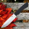 "Fallkniven Taiga Forester 2, 4.72"" Lam. CoS Plain Blade, Black Thermorun Handle w/ Zytel Sheath"