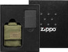 Zippo 49400 Black Crackle Lighter w/ OD Green Molle Pouch