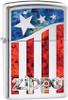 Zippo 29095 US American Flag Lighter, High Polish Chrome