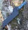 "Tops Knives Dicer 7 Bread Knife DCR7-01, 7.63"" CPM S35VN Tumble Blade, Blue/Black G10 Handle"