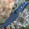 "Tops Knives Dicer 4 Steak Knife DCR4-01, 4.38"" CPM S35VN Tumble Blade, Blue/Black G10 Handle"