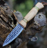 """Condor Cavelore Knife CTK3935-4.3HC, 4.31"""" 1095 HC Spear Point Blade, Hickory Wood Handle"""
