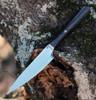 "We Knife Yakula 2013B, 4.39"" CPM S35VN Satin Plain Blade, Red/Black Carbon Fiber With 6AL4V Titanium Bolster Handle"