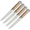 """Ferrum Estate 4pc Steak Set, 5"""" American Steel Full Tang Blades, Maple Wood Handles"""