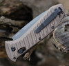 "Benchmade 5700SGY Auto Presidio II, 3.72"" CPM-M4 Gray Serrated Blade, Burnt Bronze 6061-T6 Aluminum Handle"