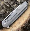 """Kansept Knives K1006A2, Shard Flipper, 3.5"""" CPM-S35VN Wharncliffe Blade, Gray & Bronze Titanium Handle"""