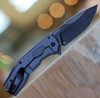 """Kershaw  2061 Cannonball, 3.5"""" D2 BlackWashed Plain Blade, Gray PVD SS Handle"""