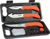 Outdoor Edge WildLite Butcher Kit WL-6, 420J Stainless Steel Full-Tang Blades, Nonslip Rubberized TPR Handle