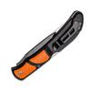Outdoor Edge RazorBone Folding Knife RBB-20C, 6 Replaceable Blade Combo Set, Orange TPR Handles, Camo Nylon Sheath