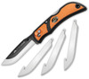 "Outdoor Edge RazorLite EDC Folding Knife RLB30-30CC,  3"" Replaceable Blade, Orange Rubberized TPR Handles"