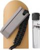RH Preyda Hard Black Arkansas Stone Tactical Pocket Kit 30499, Black Lanyard, Brown Leather Sleeve and Honing Oil