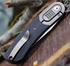 "Kansept Knives K2025A1 Lundquist Reverie, 2.92"" S35VN Satin Plain Blade, Black G-10 Handle w / Titanium Bolster"