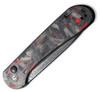 "CIVIVI Elementum Button Lock Knife C2103DS-2, 3.47"" Damascus Plain Blade, Red & Black Shred Carbon Fiber Handle"