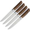 "Ferrum Reserve 4pc Steak Set, 5"" American Steel Full Tang Blades, Black Walnut Handle"