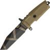 "Extrema Ratio Fulcrum C Fixed Blade, 4.2"" N690 Desert Warfare Plain Blade, Tan Forprene Handle"