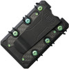 EOS 3.0 Titanium Wallet EOS053, Black Cerakote Construction, Green Anodized Hardware