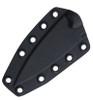 "Bastinelli Creations SIN Fixed Blade BAS215C, 3.5"" N690Co Black Stonewashed Blade, Black Cord Wrapped Handle, Kydex Sheath"