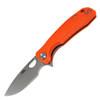"Honey Badger Knives Medium Flipper HB1019, 3.19"" 8CR13MoV Satin Drop Point Plain Blade, Orange FRN Handle"