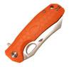 """Honey Badger Knives Large D2 Flipper HB1160, 3.63"""" D2 Satin Wharncleaver Plain Blade, Orange FRN Handle"""